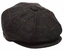 Men's Classic 8 Panel 100 Wool Blend Newsboy Snap Brim Hound