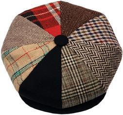 Men's Classic 8 Panel Wool Blend Newsboy Snap Brim Collectio