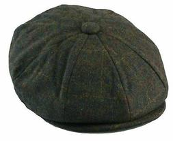 Men's Classic 8 Panel Wool Blend Newsboy Snap Brim Collectio