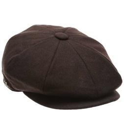 Epoch Men's Classic 8 Panel Wool Blend newsboy Snap Brim Col