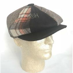 Men's Classic 8Panel 100% Wool Newsboy Snap Brim Multi Patte