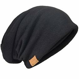 Men's Cool Cotton Beanie Slouch Skull Cap Long Baggy Hip-hop