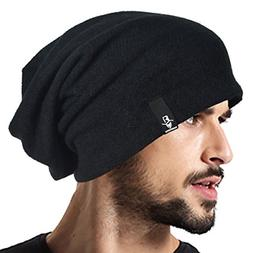 VECRY Men's Cool Cotton Beanie Slouch Skull Cap Long Baggy H
