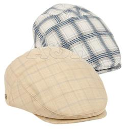Epoch Men's Cotton Flat Ivy Caps Summer Newsboy Plaid Hats
