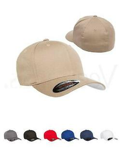 Flexfit Men Cotton Twill Fitted Baseball Plain Hat Cap, 5001