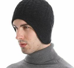 Men's Ear Flap Winter Wear Bonnet Soft Warm Skullies And Bea