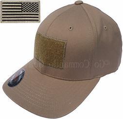 Men's Fitted 98% Cotton Flexfit Mid Profile Tactical Cap w R