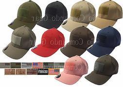 Men's Fitted Flexfit Mid Profile Tactical Cap w/ Removable P