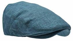 Men's Linen Flat Ivy Cap Gatsby Summer Cabbie Newsboy Hat De