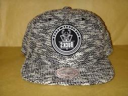 Men's Milwaukee Bucks Mitchell & Ness Camo Knit Strapback Ca