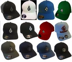MEN'S VOLCOM ORIGINAL FLEXFIT HAT FITTED HAT CAP SIZE: S/M,