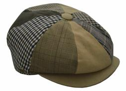 Epoch Men's Patchwork Plaid Apple Cap Newsboy Cabbie Golf Ha