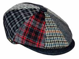 Epoch Men's Patchwork Plaid Apple Wool Cap Newsboy Cabbie Go