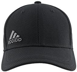 adidas Men's Release Stretch Fit Structured Cap, Black/Onix,