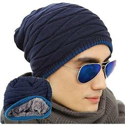 Men's Skullies & Beanies Soft Lined Thick Knit Cap Warm Wint