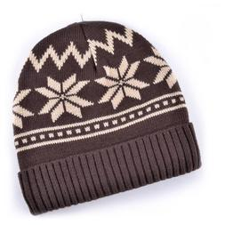 Men's Skullies Warm Winter Hat Thicker Snowflake Bonnet Bean