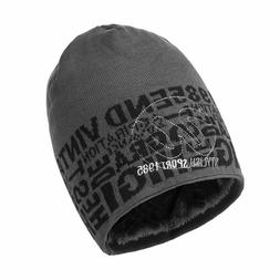 Men's Soft Hats Warm Thick Knitted Beanies Cotton Winter Sku