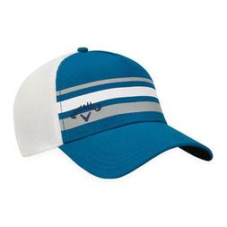 Callaway Men's Stripe Mesh Fitted Hat Blue/White S/M