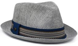 Men's Summer Linen Derby Fedora, Breathable, Tribal Stingy B