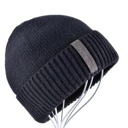 Men's Winter Warm Beanies Wool Knitted Skullies Hat Casual H