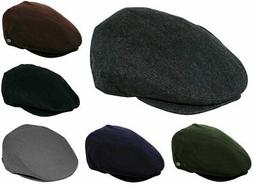 Men's Wool Blend Classic Flat Ivy Newsboy Premium Hat Front