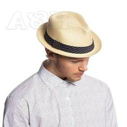 men summer fedora cuban style short brim