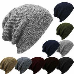 Men Unisex Knitted Warm Winter Oversized Slouch Beanie Hat C