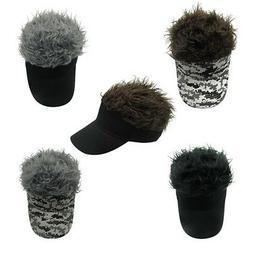 Men Wig Baseball Hat Chic Adjustable Sun Visor Cap Outdoors