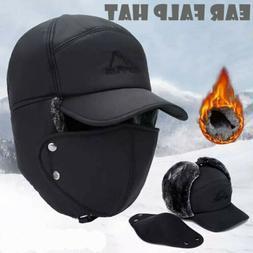 Men Winter Aviator Bomber Trooper Trapper Hat  Snow Ski Moto