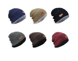 Men Winter Fall Hat Knitted Ski Warm Cap Skullies Beanie Sof