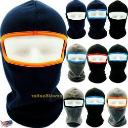 Men Women Winter Warm Hats Cap Fleece Ski Snow Mask Caps Hoo