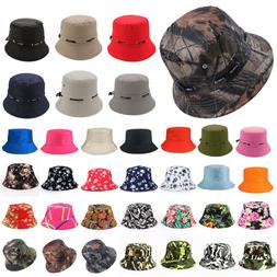 Men Women Bucket Hat Cotton Cap Military Fishing Camping Spo
