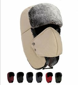 Men/Women Hats Unisex Warm Trapper Aviator Trooper Ear flap