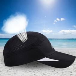 Men Women Mesh Running Golf Quick Dry Baseball Cap Anti UV O