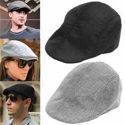 Men Women Summer Beret for Vintage news boy cap Gatsby Linen
