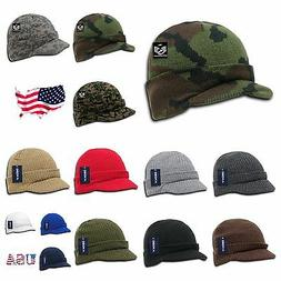 Men Women Visor Knit Beanie Cap Ball Cap Ski Hunting Army Mi