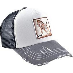 Mens Animal-Farm-Trucker-Hat, Embroidered Distressted-Baseba