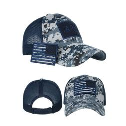 Mens Baseball Cap USA Army American Flag Tactical Trucker Ha