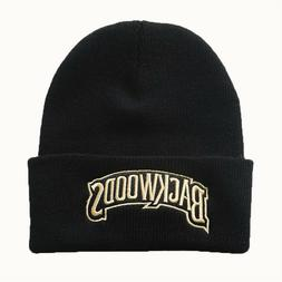 Mens Beanie BACKWOODS Embroidery Knitted Hat Winter Warm Hat