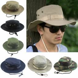 Unisex Men Bucket Hats Wide Brim Camo Camping Hiking Outdoor
