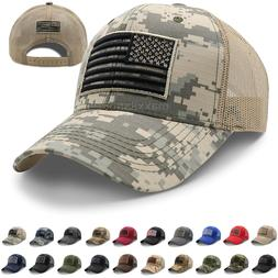 Mens Cotton Baseball Cap USA Army American Flag Tactical Tru