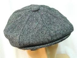 Epoch Mens Gray houndstooth Newsboy Gatsby button top hat Si