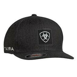 Ariat Mens Hat Baseball Cap Mesh Flexfit Logo Charcoal Grey