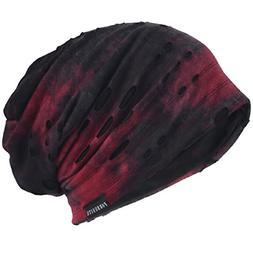 VECRY Mens Slouch Beanie Skull Cap Thin Summer Hat Retro Cla