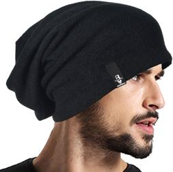 VECRY Mens Slouchy Beanie Knit Skull Cap Long Baggy Hip-hop