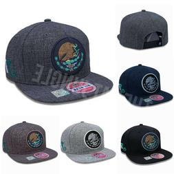 Mexico Snapback Hat Mexican Federal Logo Round Patch Flat Bi