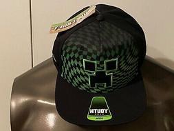 MINECRAFT video Game Creeper BOYS Youth OSFM NEW HAT Cap