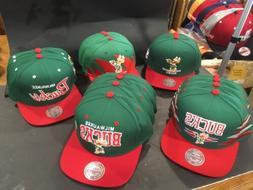 Mitchell&Ness Adjustable Milwaukee Bucks Hats