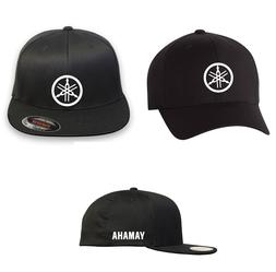 MOTORCYCLE RIDING YAMAHA  Flex Fit HAT *FREE SHIPPING in BOX