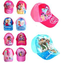 My little pony Frozen Moana Princess Girls Kids Sun Hats Car